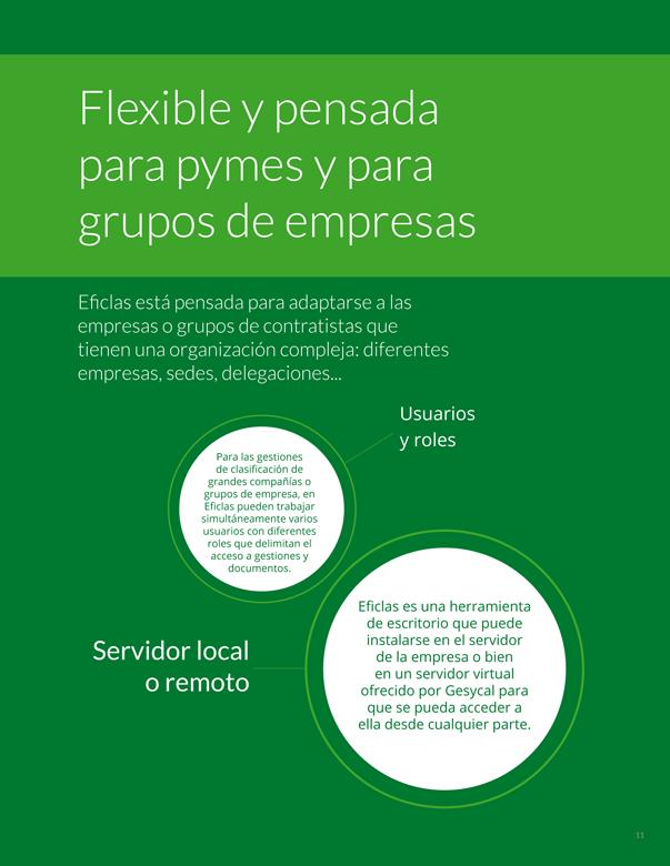 Flexible y pensada para pymes y para grupos de empresas